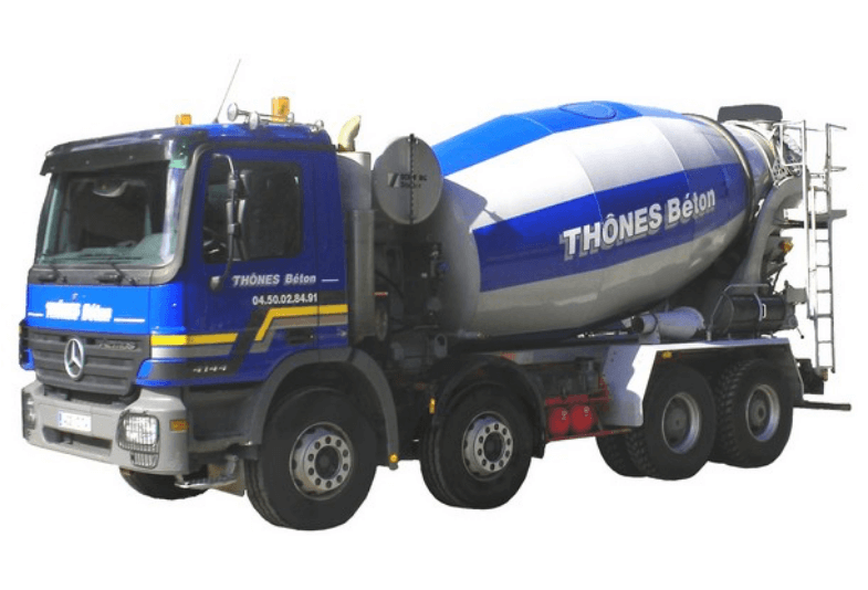 Camion malaxeur Thônes Béton