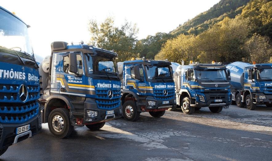 Camions transport béton à votre service