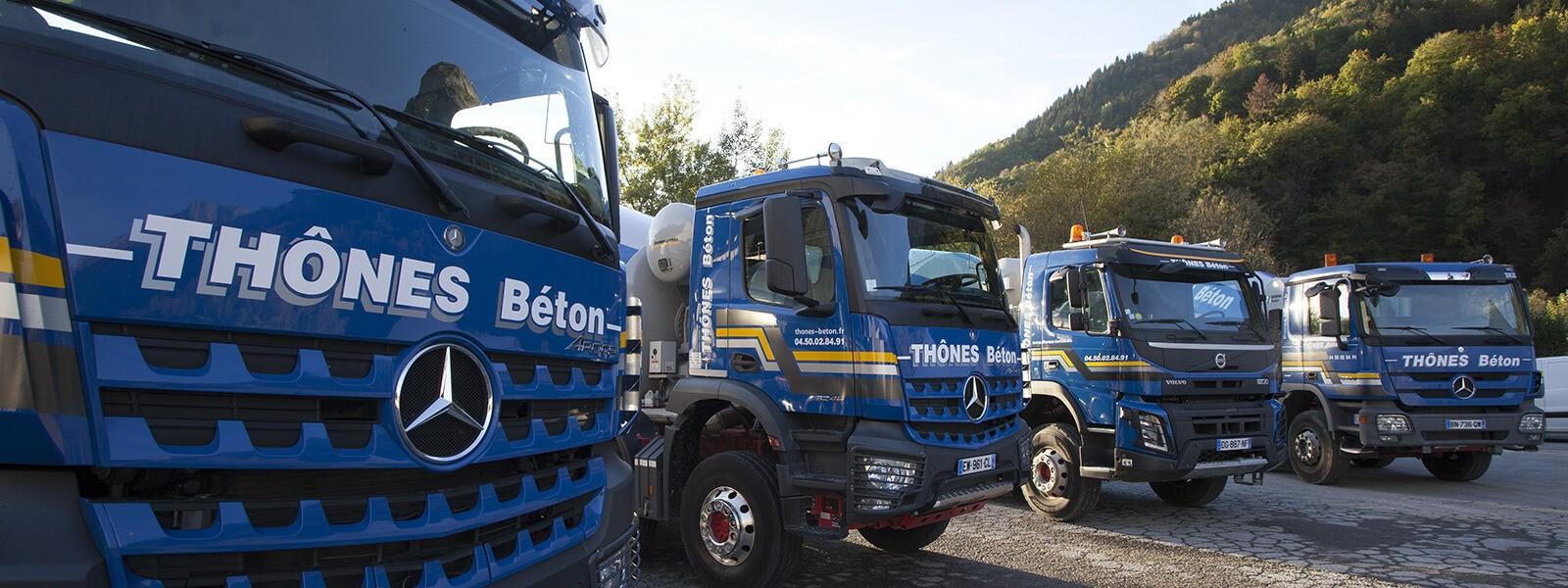 Camions malaxeurs pour transport du béton ou des granulats